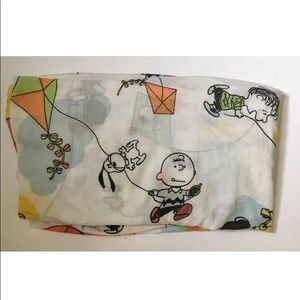 Vtg PEANUTS Charlie Brown Twin Fitted Sheet